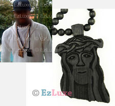 "4X 30"" Wood Chain BLACK goodwood good Jesus Piece Necklace NYC kanye west jay z"