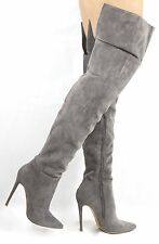 Shoe Republic Sola Over the knee Thigh High Pointy toe Stiletto zipper Boots