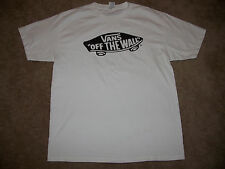 VANS OFF THE WALL SKATEBOARD SHIRT White LARGE Independent Trucks Alva Powell