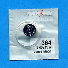 4 x 364 SR621SW V364 D364 1.55V Silver Oxide Watch Batteries Cell Rayovac