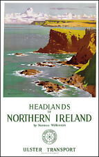 Headlands of Northern Ireland Poster Travel Wall Art Picture