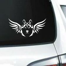 B194 TRIBAL WOLF WITH WINGS GRAPHIC WHITE VINYL DECAL CAR TRUCK WALL TABLET