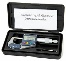 0-25mm Digital Micrometer External Outside Electronic Gauge 12 Months Warranty