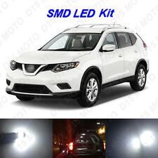 12 x White LED Interior Bulbs Fog Reverse Tag Lights for 2008-2016 Nissan Rogue