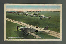 1922 RPPC USA postcard Air Force ArmyBase Biplane Fighters Cover Bridgeville PA