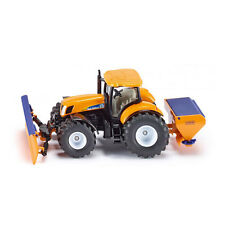 Siku 2940 New Holland Traktor mit Räumschild Salzstreuer orange  NEU! °