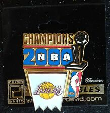 LOS ANGELES LAKERS 2000 NBA CHAMPIONS PIN WITH TROPHY & NBA LOGO, KOBE'S FIRST