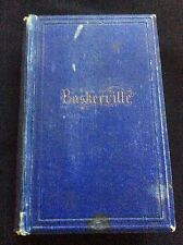 Antique 1886 Poetry of Germany poets in English & German A. Baskerville Book