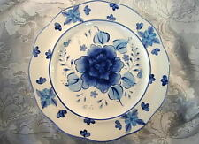 Collectible COPENHAGEN Hand Painted Asian Cobalt Blue & White Flower Plate