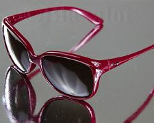 NEW OAKLEY PAMPERED SUNGLASSES Vino Red frame/Dark Brown Gradient lens Womens