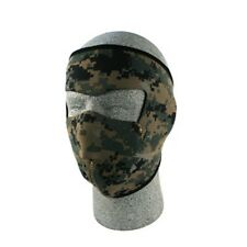 DIGITAL GREEN MARPAT CAMO NEOPRENE FULL FACE MASK MOTORCYCLE ZAN FREE SHIPPING