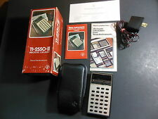 Vintage Texas Instruments TI-2550 II Calculator w, Manual Case Box AC Adapter