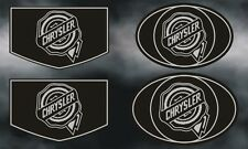 Chrysler 300c Grille, Rear Wing and fender 4 piece badge set (chrome/black)