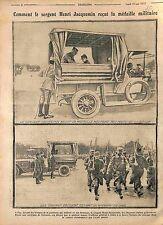 Sergent Henri Jacquemin Médaille Militaire Général Auger Garnison Pau WWI 1915