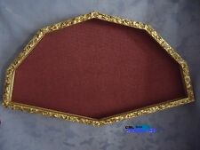 cornice ventagliera in legno dorato anticato 52x34