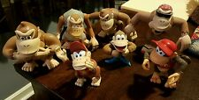 Donkey Kong Family Action Figures - Cranky Diddy Kiddy Kong 1999 Toy Lot of 8