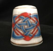 Royal Tara Blue Red Celtic Knot Thimble Irish Galway Ireland Bone China