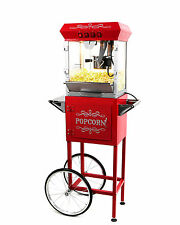 Paramount 6oz Popcorn Maker Machine & Cart - New Upgraded 6 oz Popper [Red]