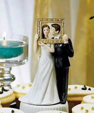 """Picture Perfect"" Couple Cake Topper Couple Cute Unique HAIR COLOR CUSTOMIZATION"