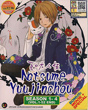 Natsume's Book of Friends Season 1-4 Vol.1-52 end + Movie + Special Anime DVD