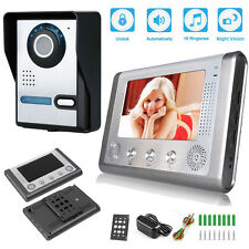 "7"" TFT/LCD Wired Video Door Phone Doorbell Intercom Home Security Camera Monitor"