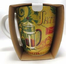 Latte Rialto Large Coffee Mug Cup 24 Oz Cafe Percolator Graphics New