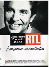 Publicité Advertising 1990 Radio RTL avec Jean Pierre Foucault