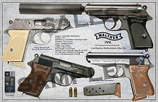Walther PPK Poster 11 x 17
