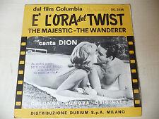 """DION""""E'L'ORA DEL TWIST-disco 45 giri DURIUM it-ONLY COVER/SOLO COPERTINA- OST"""