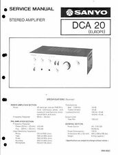 Sanyo Service Manual für DCA 20