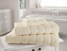 Pack de 2 crème serviettes de bain en 100% Coton Égyptien De Luxe & soft ENVOI GRATUIT