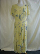 Ladies Dress - Chicot, size 18, pretty yellow floral pattern, fluid - 5163 061