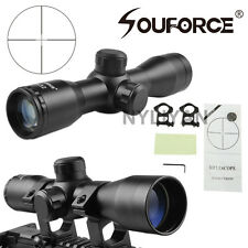 Compact 4X32 Mil-Dot .223 .308 Detachable Rifle Scope Sight 20mm Rail Mounts New