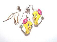 Tweety Bird Earrings Tweey Daisy Flower Charms