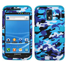 For Samsung Galaxy S II 2 T989 IMPACT TUFF HYBRID Case Phone Cover Blue Camo