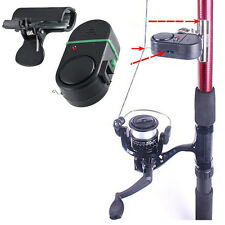 NEW Black Electronic LED Light Fish Bite Sound Alarm Bell Clip On Fishing Rod
