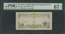 South Vietnam P-R3 50 Xu 1963 PMG 67 EPQ