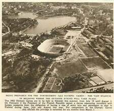 1952 Vast Stadium In Helsinki Outdoor Olympic Game Events Birds Eye View