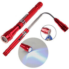 Flexible Flexi Torch Telescopic 3 LED Magnetic Pick Up Tool Light Flashlight Red