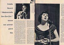 Coupure de presse Clipping 1960 Colette Renard     (2 pages)