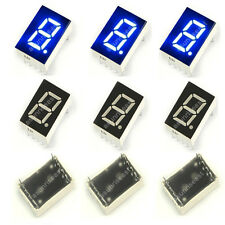 "10 × Blue 7 Segment 0.5"" Inch LED Single Digit display Common Anode 1 Bit 10-Pin"
