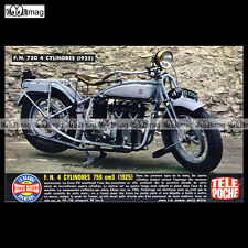 #TP Fiche Moto FN 4 CYLINDRES 750 - 1925 (FABRIQUE NATIONALE Classic Motorcycle)