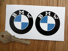 BMW Serif Style Roundel Motorcycle or Car Stickers 50mm Pair Boot Tank Helmet