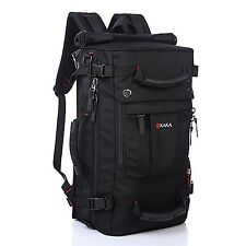 KAKA Classic Laptop Backpack for 17 Inch Laptops Black Black Simple
