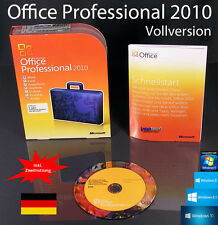 Microsoft Office Professional 2010 Vollversion Box + CD Deutsch Zweitnutzung OVP