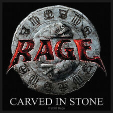 RAGE - Patch Aufnäher - Carved in stone NEU