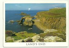 Landscape of Cornwall Land's End Cancelled 2001 Postcard