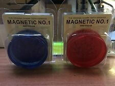 15 X No 1 Herb Grinder 3 Part 55mm Magnetic Shark Teeth Plastic Acrylic Assorted