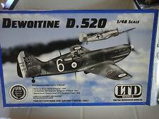 DEWOITINE D 520 1/48 SCALE LTD MODEL+ PHOTOETCHED PARTS EDUARD ACCESSORIES