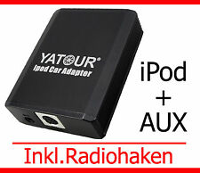 IPod iPhone AUX Adattatore VW Fox Polo 9n3 GOLF JETTA 5 6 12pin Quadlock Interface